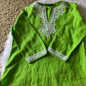 Green Tunic Top by Jones NY
